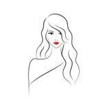 Mulher bonita da forma ilustração stock