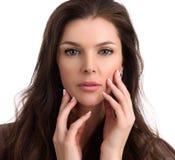 Mulher bonita da Idade Média com pele fresca limpa fotografia de stock royalty free
