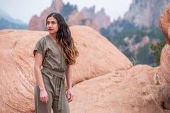 Mulher bonita da menina - mexicano latino indiano india na forma profissional fotos de stock royalty free