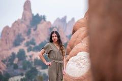 Mulher bonita da menina - mexicano latino indiano india na forma profissional fotos de stock