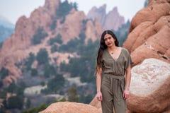 Mulher bonita da menina - mexicano latino indiano india na forma profissional foto de stock royalty free