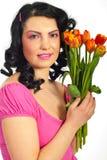 Mulher bonita da mola Imagem de Stock Royalty Free