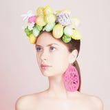 Mulher bonita da Páscoa hairstyle Imagens de Stock Royalty Free