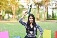 Mulher bonita da saúde verde natural bonita do número 1 das meninas fotografia de stock royalty free