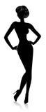 Mulher bonita da silhueta Imagens de Stock Royalty Free