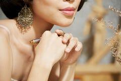 Mulher bonita de Geogeous fotografia de stock royalty free