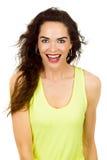 Mulher bonita de sorriso feliz imagens de stock royalty free