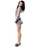 Mulher bonita de Yong no vestido curto Fotos de Stock Royalty Free