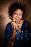 Mulher bonita do African-American fotografia de stock royalty free