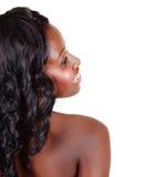 Mulher bonita do americano africano fotografia de stock royalty free
