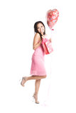 Mulher bonita do asian do Valentim Imagens de Stock Royalty Free