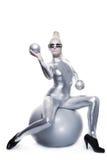 Mulher bonita do cyber Imagem de Stock Royalty Free