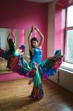 Mulher bonita do dançarino de barriga foto de stock