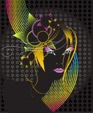 Mulher bonita do disco Imagens de Stock Royalty Free