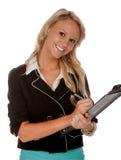 Mulher bonita do escritório empresarial imagem de stock royalty free