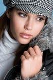Mulher bonita do inverno fotografia de stock