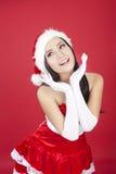 Mulher bonita do Natal Foto de Stock Royalty Free