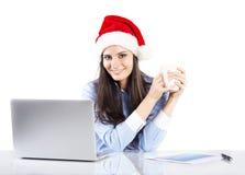 Mulher bonita do Natal Fotos de Stock