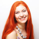Mulher bonita do redhair fotografia de stock royalty free