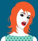 Mulher bonita do redhead Foto de Stock
