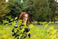 Mulher bonita do retrato que olha a câmera. Imagem de Stock