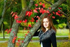 Mulher bonita do retrato que olha a câmera. Fotografia de Stock Royalty Free