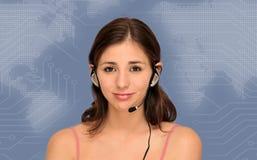 Mulher bonita do serviço de atenção a o cliente Imagem de Stock Royalty Free