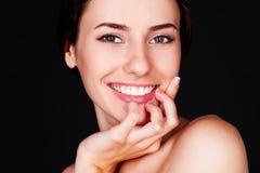 Mulher bonita do smiley Fotos de Stock