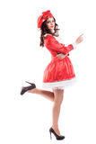 Mulher bonita e 'sexy' que desgasta Papai Noel Imagem de Stock Royalty Free