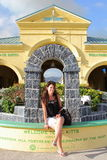 Mulher bonita em St Kitts Imagem de Stock