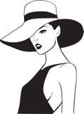 A mulher bonita em um chapéu Imagem de Stock