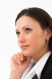 Mulher bonita em um terno de negócio Foto de Stock