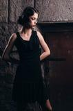Mulher bonita em um vestido Fotos de Stock Royalty Free