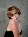 Mulher bonita em uma melancolia Imagens de Stock Royalty Free