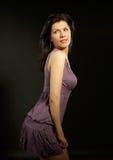 A mulher bonita está dançando Fotografia de Stock Royalty Free