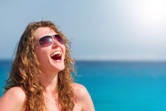 Mulher bonita feliz foto de stock royalty free