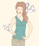 Mulher bonita Ilustração do vetor Imagens de Stock Royalty Free