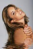 Mulher bonita na água imagem de stock royalty free