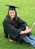 Mulher bonita na graduação fotografia de stock