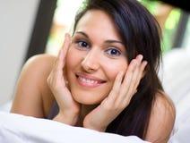 Mulher bonita na manhã Imagens de Stock