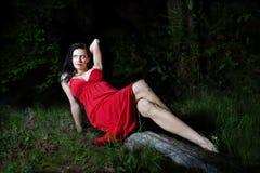 Mulher bonita na natureza Fotografia de Stock Royalty Free