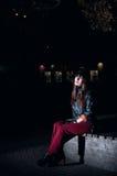 Mulher bonita na noite Imagens de Stock