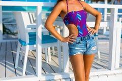 Mulher bonita na praia do verão Foto de Stock