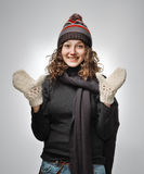 Mulher bonita na roupa do inverno imagens de stock royalty free