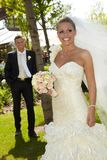 Mulher bonita no dia do casamento Foto de Stock Royalty Free