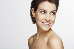 Mulher bonita no estúdio Imagens de Stock Royalty Free