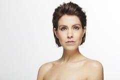 Mulher bonita no estúdio Imagem de Stock Royalty Free