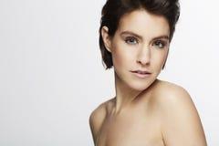 Mulher bonita no estúdio Foto de Stock Royalty Free