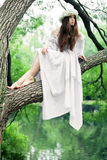 Mulher bonita no país das maravilhas Fotografia de Stock Royalty Free