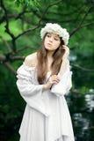 Mulher bonita no país das maravilhas Imagem de Stock